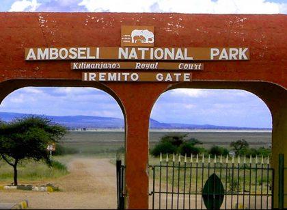 Amboseli-national-park gate